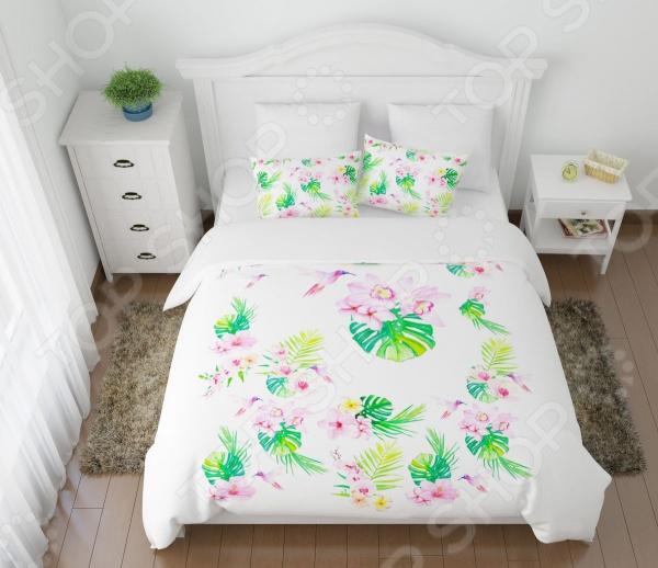 Комплект постельного белья Сирень «Утро в тропиках» сирень кпб евро утро в тропиках