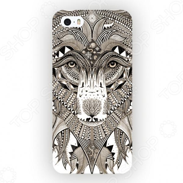Чехол для iPhone 5 Mitya Veselkov «Зентангл: Медведь» чехлы для телефонов mitya veselkov чехол для iphone 7 plus зентангл череп ip7plus mitya 010