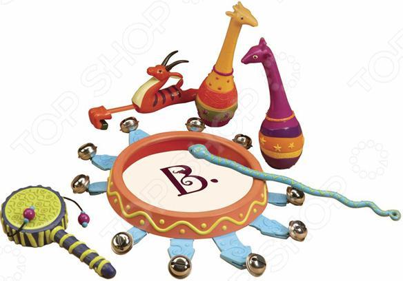 Набор игрушек-погремушек B Dot «Мелодия джунглей»