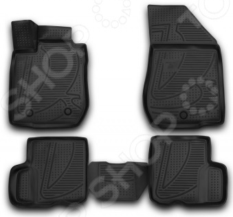 Комплект 3D ковриков в салон автомобиля Novline-Autofamily LADA Largus 2012
