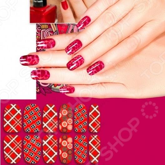 Пленка для дизайна ногтей Bradex «Шотландка»