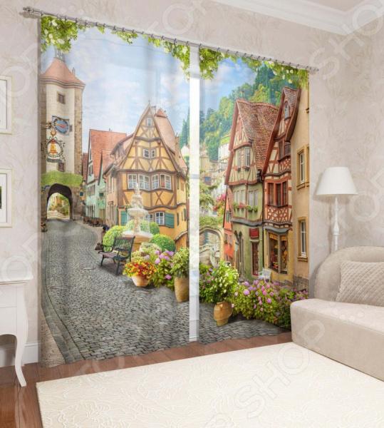 фото Фотошторы Сирень «Старый Ротенбург», Фотошторы с городскими пейзажами