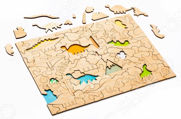 Пазл деревянный Bradex «Динозавры»