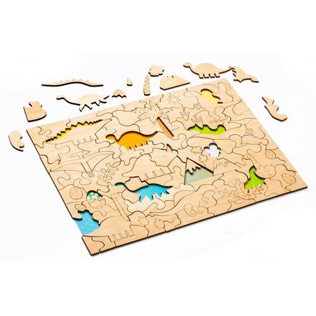 Купить Пазл деревянный Bradex «Динозавры»