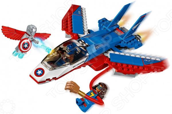 Конструктор игрушечный LEGO 76076 «Воздушная погоня Капитана Америка» lego lego super heroes воздушная погоня капитана америка