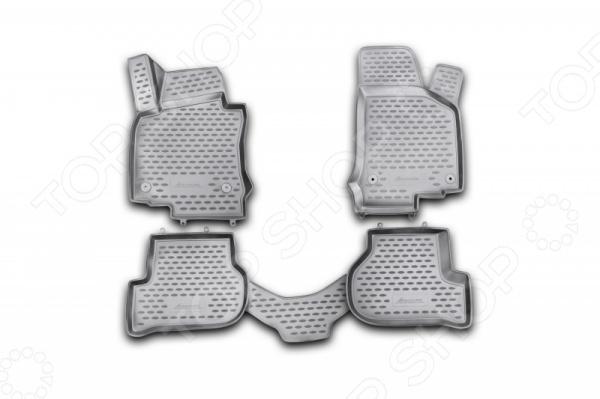 Комплект 3D ковриков в салон автомобиля Novline-Autofamily Volkswagen Golf VI 2009 комплект 3d ковриков в салон автомобиля novline autofamily volkswagen touareg 2010 2015 2015