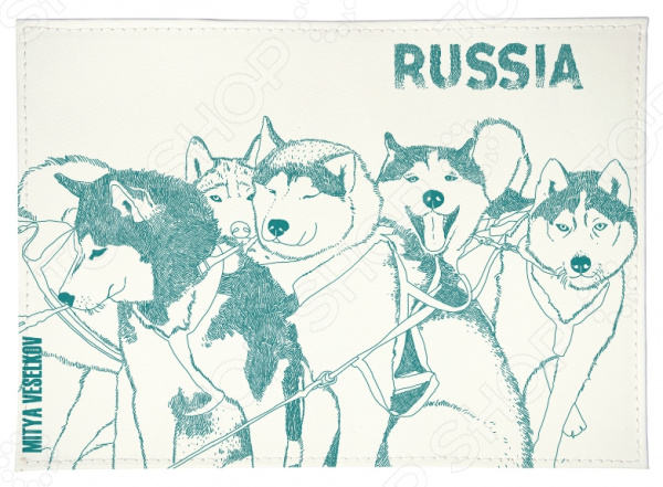 Обложка для автодокументов Mitya Veselkov «Сибирские хаски» а в амфитеатров сибирские этюды
