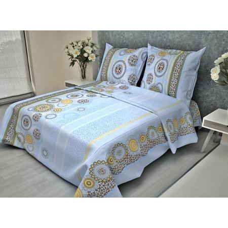 Купить Комплект постельного белья Фиорелли «Леопард». Цвет: синий. 1,5-спальный