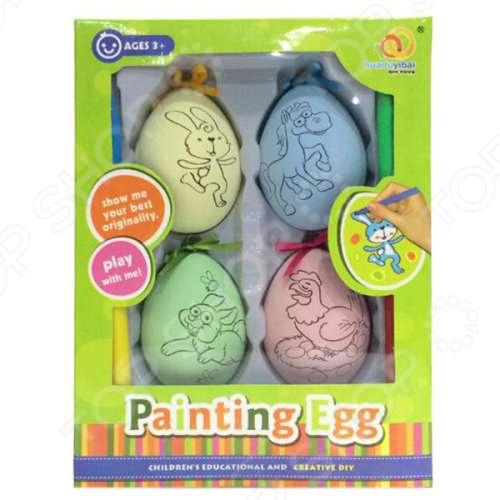 Набор для раскрашивания 1 Toy «Пасхальные яйца» чашка для яйца colour caro
