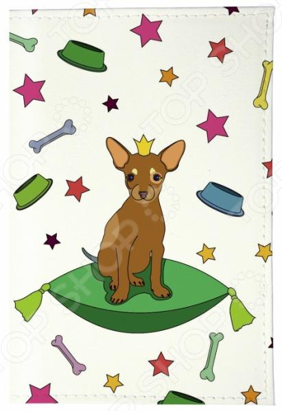 Обложка для паспорта кожаная Mitya Veselkov «Королева песиков»