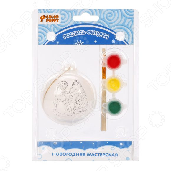 Роспись новогодней игрушки Color Puppy «Снегурочка» игрушки для детей