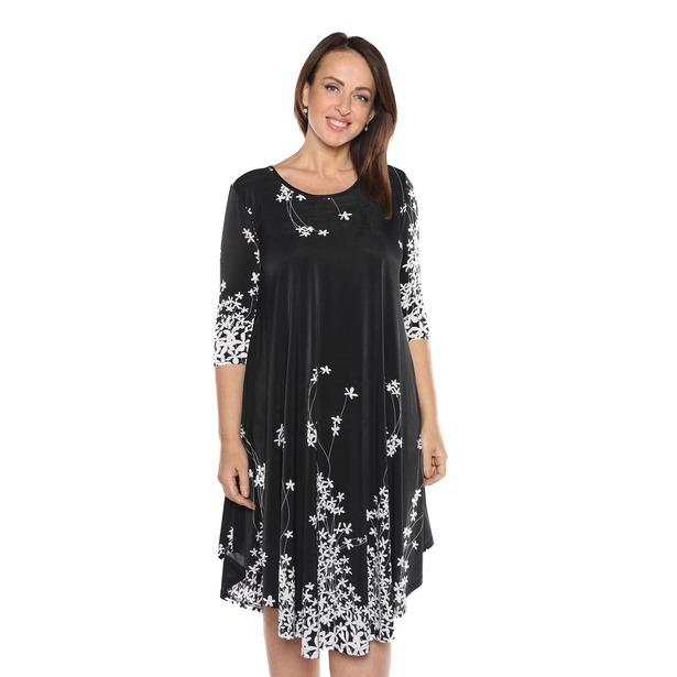 фото Платье «Цветение». Цвет: черный. Размер одежды: 54