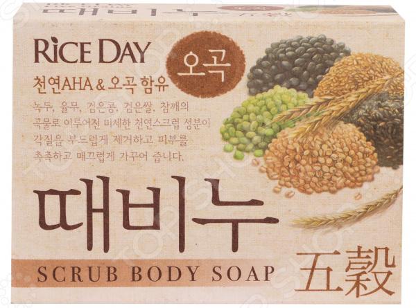 Мыло-скраб для тела CJ Lion Rice Day с экстрактом пяти злаков cj lion