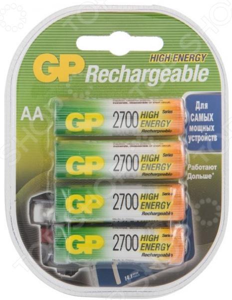 Набор батареек аккумуляторных GP Batteries 2700 набор батареек gp batteries 23af 2c5