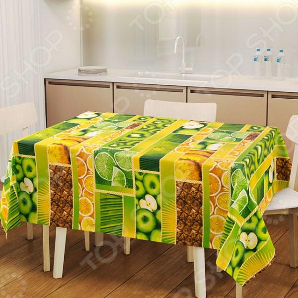 Скатерть ТексДизайн «Тропический остров» сервировка стола
