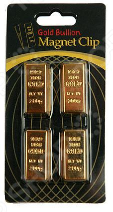 Набор зажимов для бумаги Золотой слиток атрибуты для крепления бумажных изделий. Сделаны из АБС-пластика и металла в виде слитков из золота. Рекомендуется регулярно удалять пыль сухой, мягкой тканью.