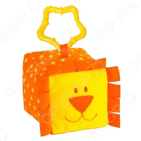 Кубик мягкий с прорезывателем Мякиши «Зоо. Львенок» Кубик мягкий с прорезывателем Мякиши «Зоо. Львенок» /