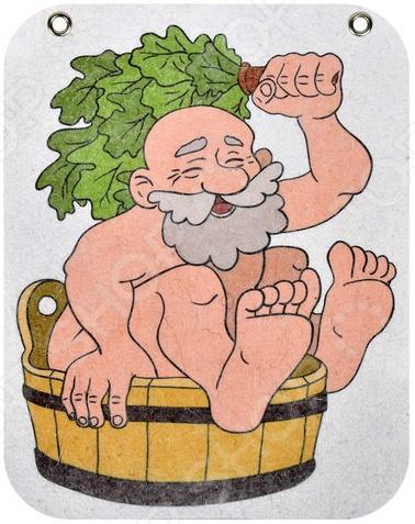 Панно войлочное для бани и сауны Банные штучки «Дед»