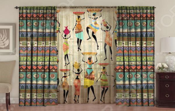Комплект фотоштор с тюлем ТамиТекс «Африканские мотивы»