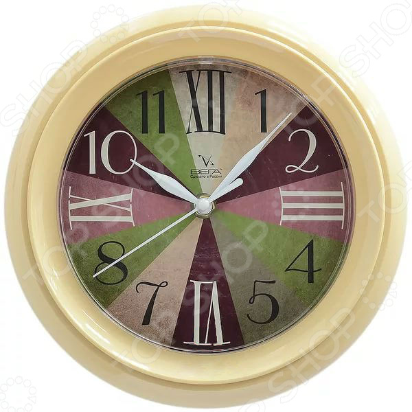 Часы настенные Вега П 6-14-33 «Диаграмма»