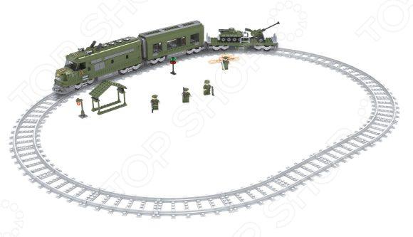 Набор конструктора железнодорожный Голубая стрела «Военный эшелон» детский набор для моделирования stirling engine stirling gz001