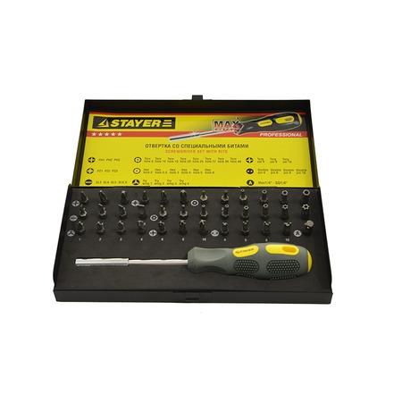 Купить Отвертка с битами Stayer Max-Grip 25931-H37 G
