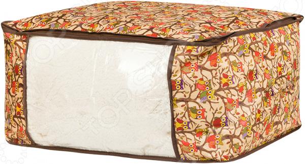 Кофр для хранения одеял и пледов EL Casa «Совы на ветках»