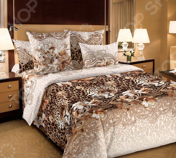 Комплект постельного белья Белиссимо «Леопард» нельс гламур зимний комплект леопард где в омске