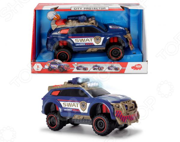 Машинка со светозвуковыми эффектами Dickie «Полицейский внедорожник. Защитник города» игровые наборы dickie полицейский набор свободный ход 6 24