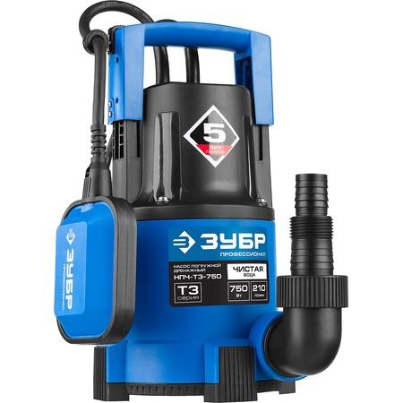 Купить Насос погружной дренажный для чистой воды Зубр «Профессионал» НПЧ-Т3-750