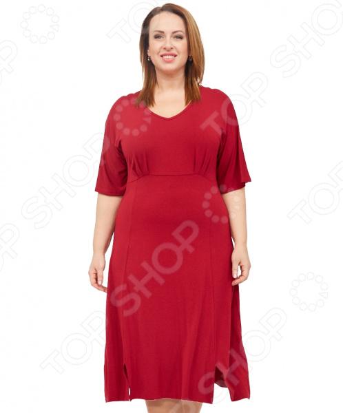 Платье Laura Amatti «Нежная радость». Цвет: бордовый юбка laura amatti изабелина цвет бордовый