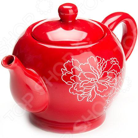 Чайник заварочный Loraine LR-25838 «Узор цветов»