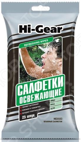 Салфетки влажные для рук и тела Hi Gear HG5583 набор салфеток для сильно загрязненных рук hi gear hg 5585
