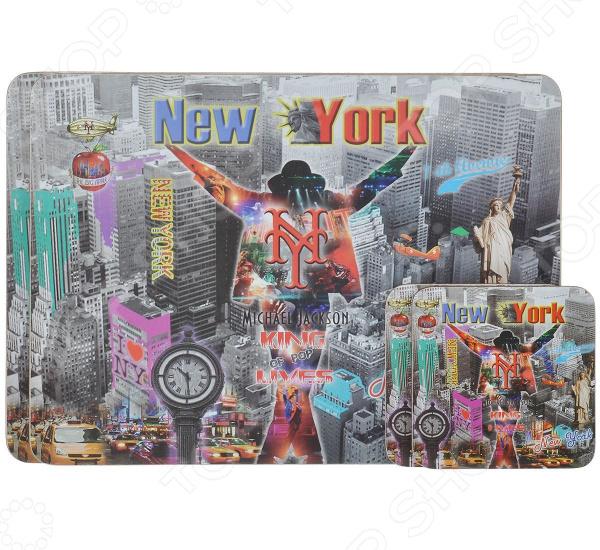 Набор сервировочных ковриков и подставок под горячее Gift'n'home New York. King Lives