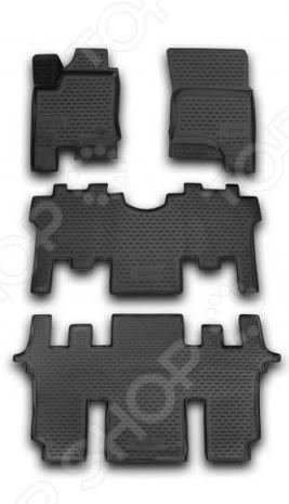 Комплект 3D ковриков в салон автомобиля Novline-Autofamily SsangYong Stavic 2013 комплект ковриков в салон автомобиля novline autofamily lada kalina ll 2004 2013