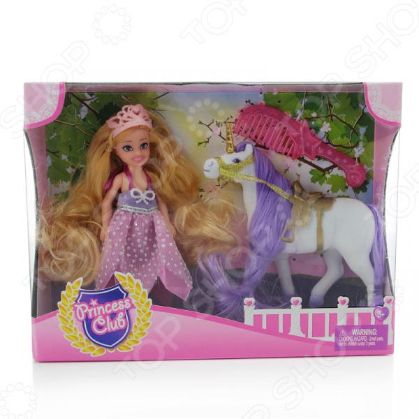 Кукла с аксессуарами Shantou Gepai и лошадкой Princess Club KW20914 кукла shantou gepai princess club блондинка 12 см kw20895