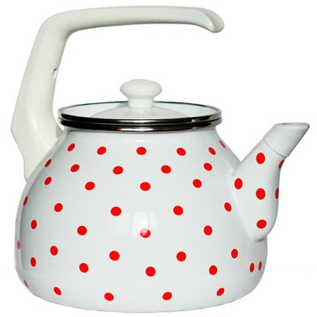 Купить Чайник эмалированный Interos 6009 «Горошек»