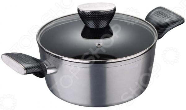 Кастрюля Bergner Carbon TT кастрюля bergner bg 9501l mm gourmet 4 5 л