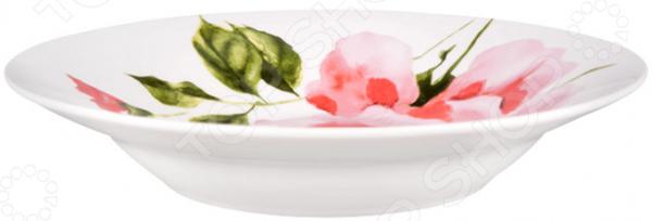 Тарелка суповая Miolla «Пионы»
