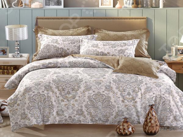 Фото - Комплект постельного белья Cleo 397-SK постельное белье этель кружева комплект 2 спальный поплин 2670978