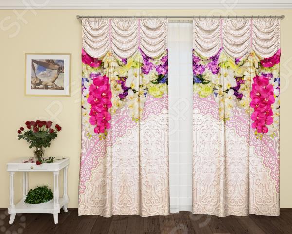 Фотошторы с кулиской ТамиТекс «Фрейлина». Цвет: розовый шторы stickbutik фотошторы театральный занавес