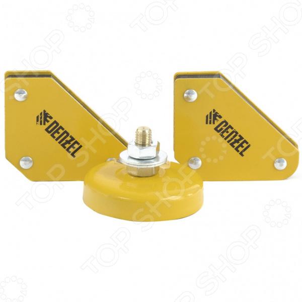 Набор из фиксаторов магнитных и клеммы для сварочных работ Denzel 97557