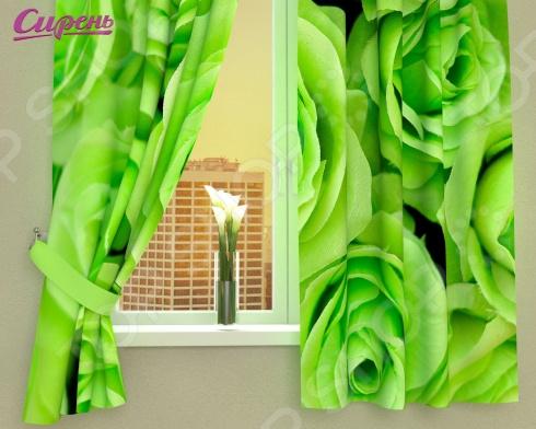 Фотошторы Сирень «Зеленые розы» фотоштора сирень фотошторы спуск к океану