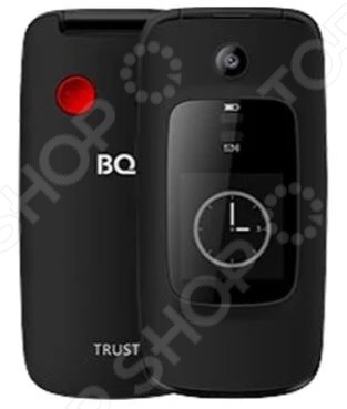 Мобильный телефон-раскладушка BQ 2002 Trust это отличное соотношение цены и качества. Стильный дизайн, продуманный функционал и качественная сборка делают его прекрасным выбором для тех, кто всегда и везде хочет оставаться на связи. Модель практична и функциональна в использовании, снабжена кнопкой SOS и функцией Bluetooth.  Особенности и преимущества  Кнопка SOS.  Bluetooth функция, позволяющая передавать файлы с одного устройства на другое.  Использование карт памяти при необходимости вы можете расширить память телефона с помощью microSD карты. В комплекте к телефону идет аккумулятор, зарядное устройство и USB кабель.