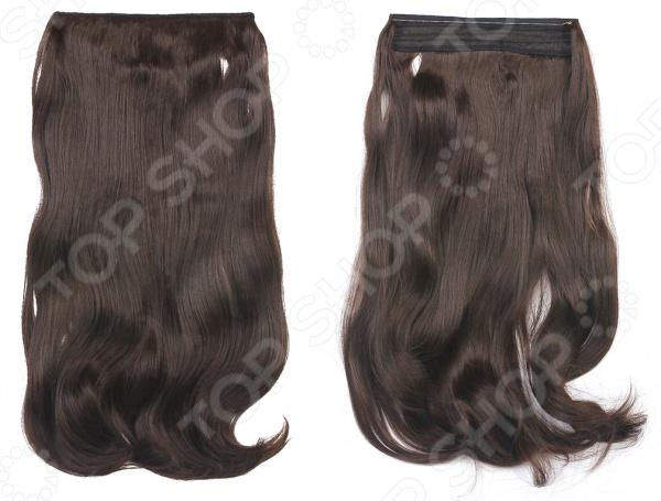 Волосы на силиконовой резинке    /Темно-коричневый