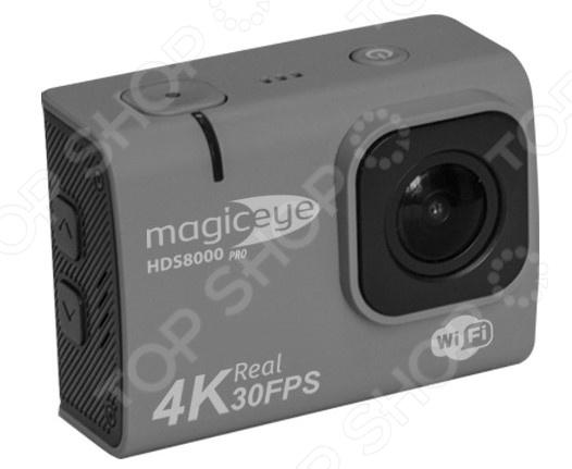 Экшн-камера Gmini HDS8000Pro это компактное портативное устройство, позволяющее запечатлеть самые незабываемые моменты. Благодаря небольшим размерам, она станет незаменимым другом во время спортивных мероприятий, праздников или активного образа жизни. Не смотря на миниатюрные размеры, камера имеет топовые характеристики и справится с задачей в любых условиях.  Устройство выдерживает температуру от -10 до 50 C.  Возможность съемки видео в разрешении 4к позволит наслаждаться качественным видео.  Возможность управлять съемкой по WiFi обязательно пригодится всем любителям съемки с высоты.  Функция стабилизации незаменима при езде на велосипеде, беге или просто съемке в движении.  Наличие LCD даст возможность просмотреть отснятый материал.  Поддержка карт памяти до 64 гб позволит снимать множество роликов.  Вставив в камеру в специальный бокс для подводной съемки, можно экспериментировать с роликами в воде. Камера подойдет не только спортсменам и путешественникам, она без труд справится со съемкой с дрона. Портативное легкое и малогабаритное устройство придется по вкусу каждому любителю записывать ролики.