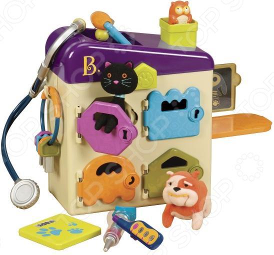 Игровой набор для ребенка B Dot с крышкой «Чемоданчик-ветеринарный»