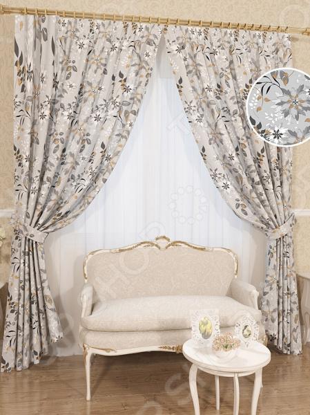 Комплект штор Сирень «Северянка» комплект штор с покрывалом для спальни в москве