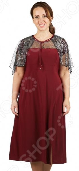 цена  Платье Лауме-Лайн «Эдит Пиаф». Цвет: бордовый  онлайн в 2017 году