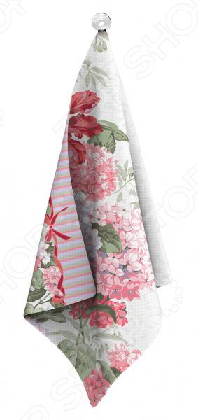 Полотенце вафельное Романтика «Гортензия» полотенце вафельное 50 70 романтика розовый ноктюрн